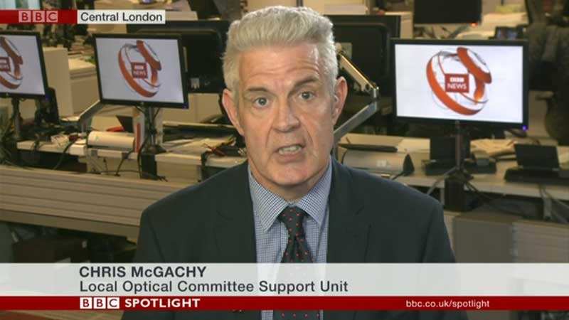 Chris McGachy on BBC TV News