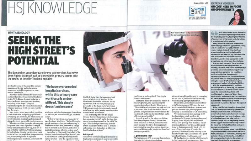 Thumbnail image of article in Health Service Journal