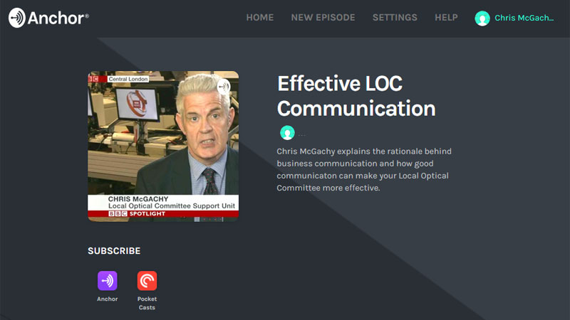 Thumnail of Effective Communications Podcst page